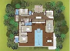 Floor Plan Of A Villa East Coast Pool Villa For Rent Lanta Island Property