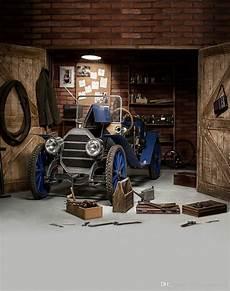 garage butik 2019 vintage garage photography backdrop blue car wooden