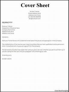 Job Application Cover Sheet Fax Cover Sheet Resume Template Http Www Resumecareer