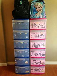 clothes organizer days of the week make the upcoming school week easy and organized with this