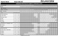 Sole Length Of Ski Boot Chart New Lange Comp Mens Expert Racing Ski Boots 2010 Ebay