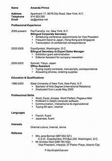 Resume Cv Sample Cv Resume Bilingual Cv Resume Sample Sample