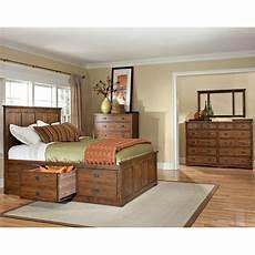 Oak Bedroom Furniture Sets Mission Oak 7 King Storage Bedroom Set Oak Park