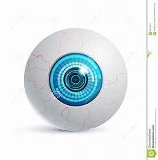 Cyber Eye Cyber Eye Futuristic Icons Realistic Object Stock Vector
