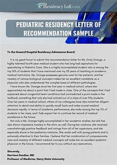 Letter Of Recommendation For Residency Best Pediatric Residency Letter Of Recommendation Sample