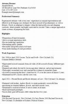 Criminal Defense Attorney Resume Criminal Defense Lawyer Cover Letter June 2020