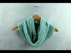 how to knit a basic cowl easy knitting pattern