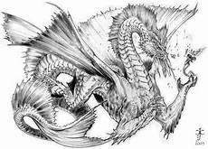 Ausmalbilder Japanische Drachen Aquatic By Calebcleveland On Deviantart
