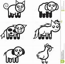 Farm Animal Outlines Farm Animal Outlines Royalty Free Stock Photo Image