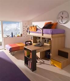 letti con scrivania con letto e scaletta contenitore marzorati