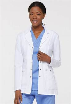 white lab coats for 28 inch marine xtreme stretch 28 quot snap front lab coat in white 82400 dwhz
