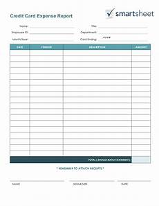 Small Business Expense Report Template Free Expense Report Templates Smartsheet