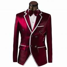 Red S Custom Design Luxury Custom Men Double Breasted Suit Fashion Design Mens