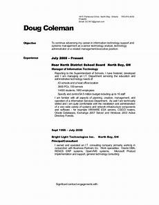 Resume With References Samples Dougs Resume No References