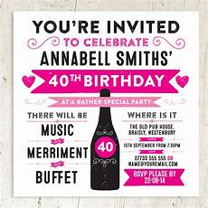 Party Invation Personalised Birthday Or Wedding Party Invite By A Is For