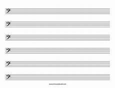Staff Paper Bass Clef Blank Bass Clef Staff Paper Printable Sheet Music Pdf