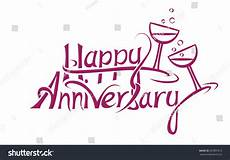 Happy Anniversary Design Happy Anniversary Sign Letter Design Stock Vector