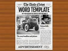 Office Newspaper Template 1 Page Newspaper Template Microsoft Word 8 5x11 Inch By