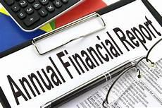 Finacial Report Annual Financial Report Clipboard Image