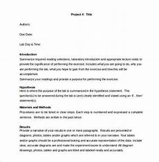 Chemistry Lab Report Template Word 29 Lab Report Templates Pdf Google Docs Word Apple