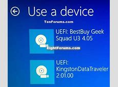Installation & Upgrade Boot from USB Drive on Windows 10 PC