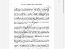 Eyre Essay Eyre Complex Character In Development Essay