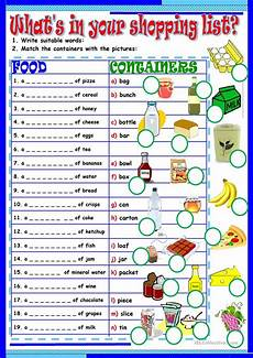 Making A Grocery List Worksheet Whar S In Your Shopping List English Esl Worksheets For
