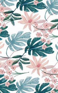 Modern Flower Wallpaper For Iphone by Tropical Feeling Summer Tropical Wallpaper Pattern