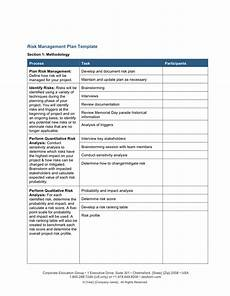Risk Management Template Risk Management Plan Template Download Free Documents