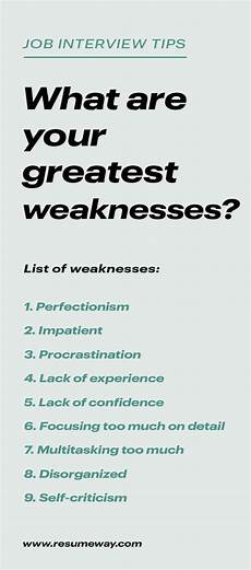 Sample Weaknesses For Interview Strengths And Weaknesses For Job Interviews Great Answers