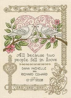 Free Wedding Cross Stitch Patterns Charts Imaginating All Because Cross Stitch Pattern 123stitch