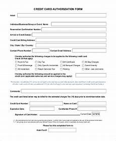 Credit Card Charge Authorization Free 10 Sample Credit Card Authorization Forms In Ms Word