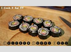 First Chicken Sushi Rolls Easy Recipe   YouTube