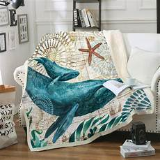 Throws For Sofa 3d Image by Sofa Blanket 3d Printed Sea Turtle Seahorse Octopus