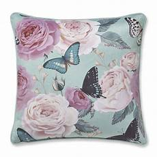 catherine lansfield botanical butterfly cushion cover