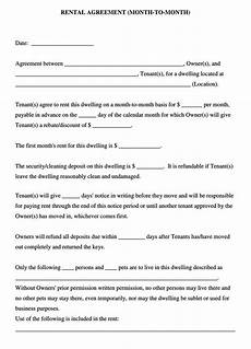 Rental Agreement Template Word Document Free Month To Month Lease Agreement Templates Word Pdf