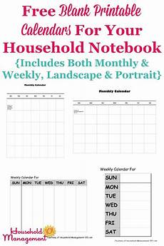 Calendars Printable Free Blank Printable Calendars For Your Household Notebook