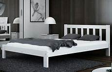 white wooden bed frame 4ft small 120x190 solid pine