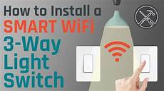 Installing A Smart Light Switch How To Install A Smart Wifi 3 Way Light Switch Youtube