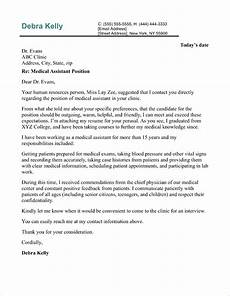 Medical Field Cover Letter Medical Assistant Cover Letter Sample