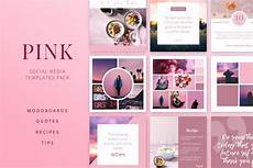 social media design templates pink social media templates pack social media