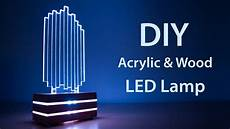 Led Light Diffusing Acrylic Diy Acrylic And Wood Color Changing Led Lamp Youtube