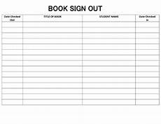 Book Out Sheet Classroom Library Book Sign Out In Sheet By Lessons From