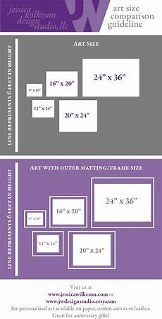 Guide Chart Art Size Comparison Chart