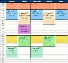 Scheduling Planner College Schedule Planner Template Business