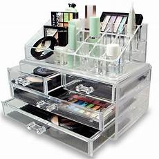 cosmetic holder large 4 drawers jewelry chest make up