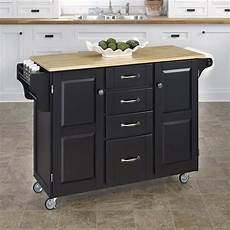 kitchen island lowes shop home styles 52 5 in l x 18 in w x 35 75 in h black