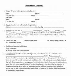 Rental Agreement Template Word Document Rental Agreement Template 21 Free Word Pdf Documents