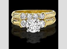 Knife Edge Round Diamond Matching Engagement and Wedding