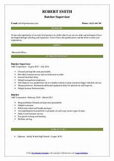 Butcher Job Description Butcher Resume Samples Qwikresume